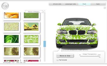Custom-Car-Wraps.com Application Screen Shot